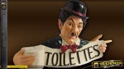 Personnage déco murale panneau indicatif WC