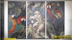 TABLEAU CANEVAS PIN 90X3X190 TROPICAL 3 MOD.