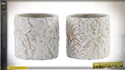 SUPPORT POT FLEURS CIMENT 12X12X12 TROPICAL 2 MOD.