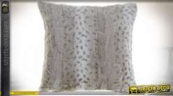COUSSIN POLYESTER 45X10X45 450 GR SAUVAGE BEIGE