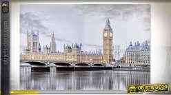 TABLEAU TOILE PAILLETTES 150X3,5X100 LONDRES