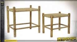 TABLE AUXILIAIRE SET 2 MANGUE CORDE 58X40X58