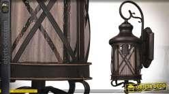 Lanterne applique extérieure finition bronze doré style vintage 64 cm 1 x E27