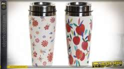 THERMOS BAMBOU RECYCLÉ 8X8X18 360 PECHES 2 MOD.