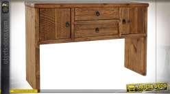 Console en bois de pin recyclé finition naturelle esprit montagnard,76cm