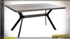TABLE MDF MÉTAL 160X90X76 MARRON
