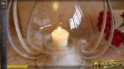 Lanterne décorative rétro en verre et métal