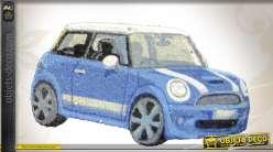 Paillasson décoratif Austin Mini bleue