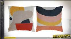 COUSSIN POLYESTER 45X12X45 400 GR. ABSTRAIT 2 MOD.