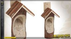 Mangeoire en bois pour oiseaux
