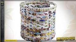 Série de trois cache-pots en papier recyclé