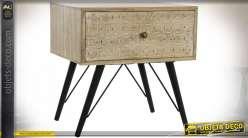 TABLE DE CHEVET MANGUE MÉTAL 50X40X50
