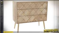 COMMODE PAULOWNIA PIN 73X36X65