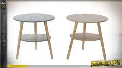 TABLE AUXILIAIRE MDF PIN 50X50X50 2 MOD.