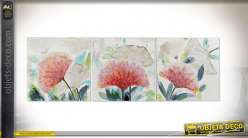 TABLEAU TOILE PIN 60X3X60 FEUILLES 3 MOD.