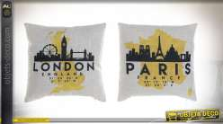 COUSSIN POLYESTER 45X12X45 400 GR. VILLE 2 MOD.