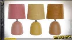 LAMPE DE TABLE GRÈS COTON 15X15X25 3 MOD.