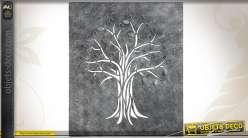 Décoration murale arbre stylisé en métal ajouré