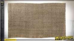 Grand tapis rectangulaire en jute tressée finition naturelle, 160x270cm