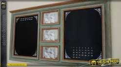 Tableau noir mural double avec porte-photos