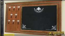 tableau noir mural double avec porte photos. Black Bedroom Furniture Sets. Home Design Ideas