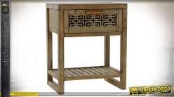 TABLE AUXILIAIRE BOIS 48X34,5X59,5 TAILLÉ NATUREL