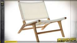 FAUTEUIL TECK PVC 65X80X68 BLANC