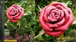 Rose géante de 180cm en métal, finition métallique pour ornement de parcs et jardins ou usage intérieur
