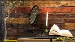 Miroir à poser en métal finition noir charbon, modèle inclinable de forme ovale, ambiance rétro, 40cm