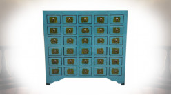 COMMODE ORME MÉTAL 106X42X99 TURQUOISE