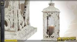 Grande lanterne en métal de style rétro 65 cm