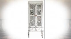 Buffet vitrine de style vintage 2 portes et 2 tiroirs 171 cm