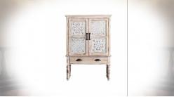 Buffet à deux portes et deux tiroirs de style vintage et rustique 110 cm