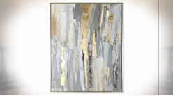 Tableau sur toile de style abstrait avec encadrement 131 x 105 cm