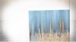 Série de 2 tableaux abstrait sur toile et bois 150 cm