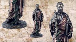 Hippocrate, représentation du père de la médecine, en résine finition vieux bronze, ambiance mythologie grecque, 25cm