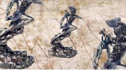 Hermès, représentation du messager des dieux de l'Olympe, en résine finition bronze effet ancien, collection Mythologie grecque, 21cm