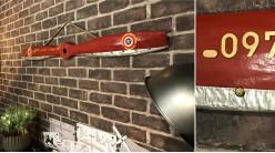 Hélice d'avion décorative en bois et ornement métalliques, modèle Royal Aircraft Factory RE.7 de 1915, 120cm