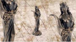 Fortune, représentation de la déesse de la fortune et la fertilité, en résine finition bronze effet ancien, collection Mythologie Grecque, 18cm