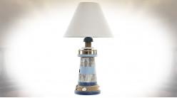 Lampe de table en forme de phare marin ambiance bord de mer, 45cm