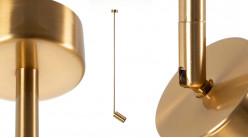 Spot en métal finition laiton doré, ambiance moderne chic, 90cm