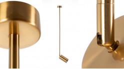 Plafonnier spot en métal doré, barre de 60 cm, ambiance moderne chic