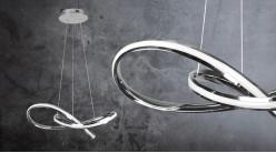 Suspension design en aluminium, forme de noeud, éclairage bande led blanc naturel, Ø61cm