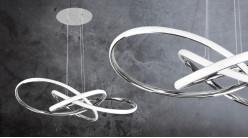 Suspension en aluminium en forme de noeud, ambiance design moderne, 62cm