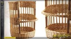 Porteuse à pain en osier teinté grand modèle (62 cm)
