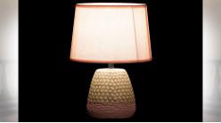LAMPE DE TABLE CIMENT POLYESTER 20X20X28 2 MOD.