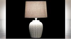 LAMPE DE TABLE TERRE CUITE 20X20X35 2 MOD.