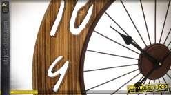 Horloge murale Bicycle wheel  en bois et métal de 68 cm