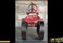 Modèle réduit de style ancien en forme de tracteur rétro avec horloge