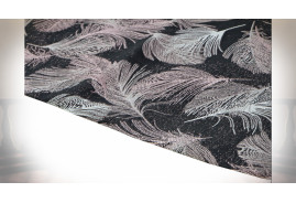 CHEMIN DE TABLE POLYESTER 180X30 400 GR. PLUMES 3